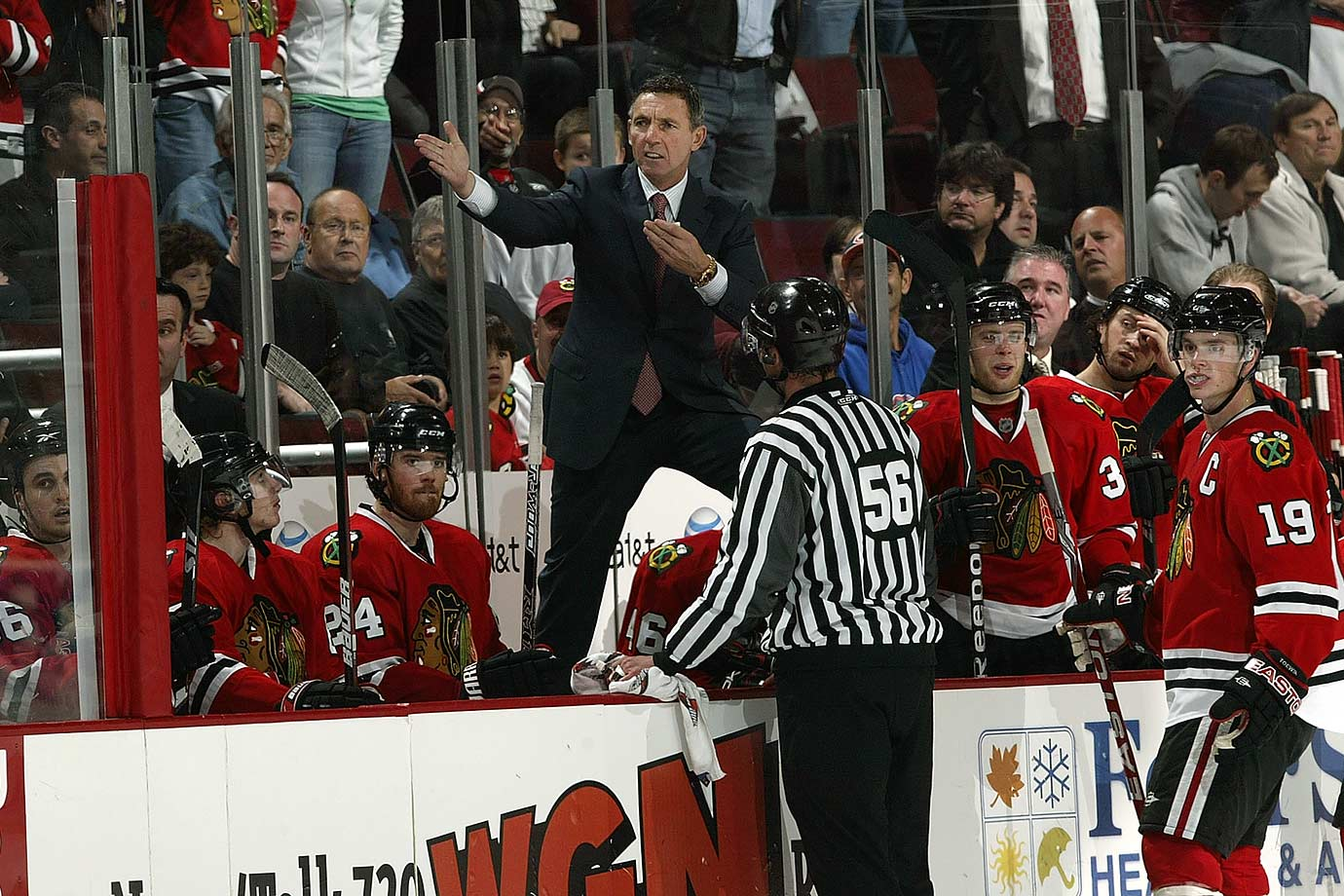 "Another coach doomed by a failure to make the playoffs followed by a listless camp, the Hawks Hall of Famer was given the heave-ho after an 0-2-1 start to what would have been his third season behind the bench. ""It was a flat camp and we got out of the gate flat,"" FM Dale Tallon said. ""We felt we needed to send a message and invigorate this team."" Savard's replacement: Joel Quenneville, who has led Chicago to three Stanley Cups."