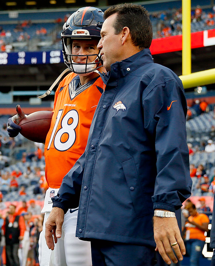 John Fox and offensive coordinator Adam Gase have moved on, but the Broncos still have Peyton Manning under center. Sadly, new head coach Gary Kubiak prefers a ground-control offense, which tends to lean on the running game more. Quick, someone strap that plow to that old racehorse's back!