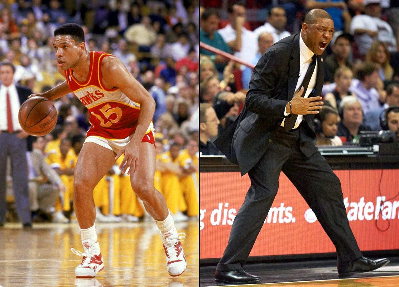 The Hawks picked up a reliable point guard when they selected Doc Rivers with the 31st pick in the 1983 draft. Rivers helped lead the Hawks to six playoff appearances in eight seasons, and he averaged 11 points and six assists in his 13-year career. He received his first crack at coaching with the Magic, in 1999, and won the Coach of the Year Award in his first season. Rivers later moved to Boston, where he won the 2008 title with Ray Allen, Paul Pierce and Kevin Garnett. He has been coaching the Clippers since 2013.