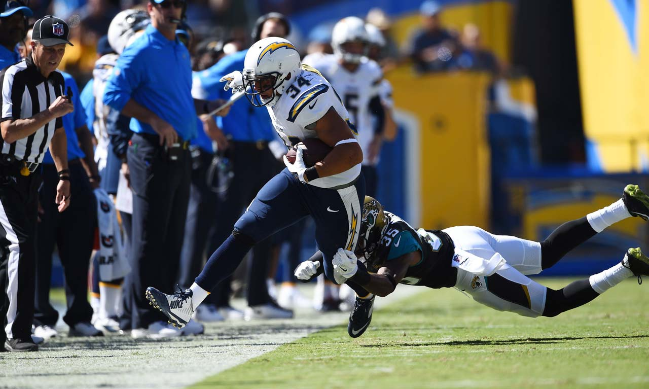 Donald Brown got the start for San Diego at running back, but could only manage 19 yards on 10 carries.
