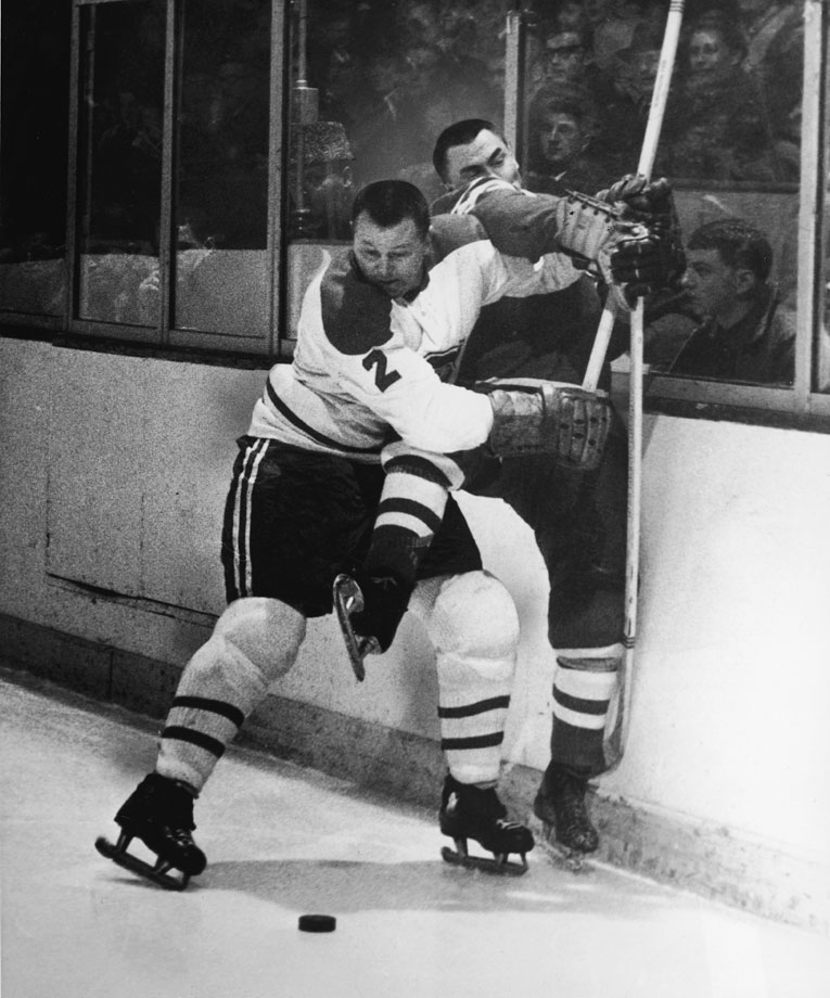 Described by the legendary Jean Believeau as the game's greatest defenseman, Harvey was known for his superb skating and passing skills. He won the Norris Trophy seven times and was named to the NHL All-Star team 11 times. He was a key player for the Canadiens on six Stanley Cup championship teams, including their record five in a row (1956-60), before moving on to the Rangers when Montreal traded him in 1961 as punishment for helping to organize the players' association.