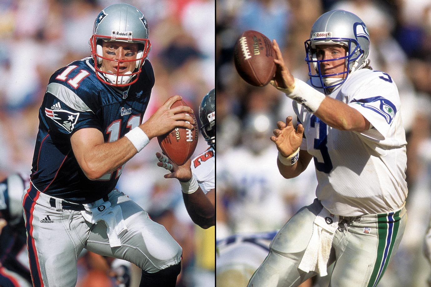 1993: 1—Drew Bledsoe (New England Patriots), 2—Rick Mirer (Seattle Seahawks)