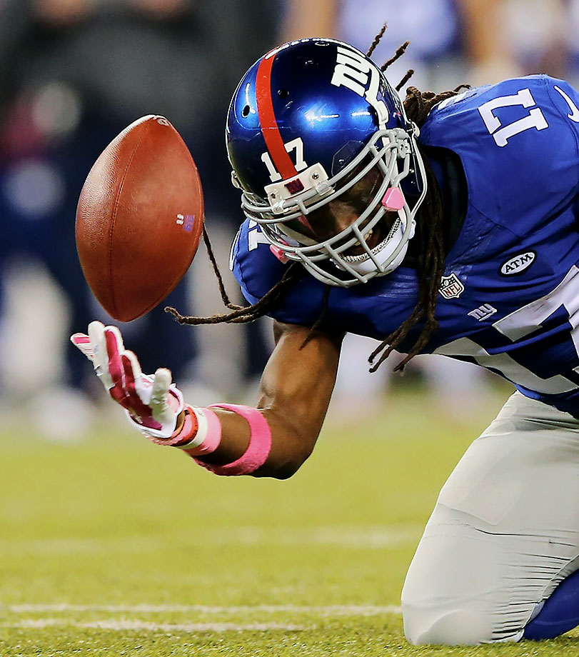 Since Harris entered the league, it's been pretty clear his skill set best translates to being a return specialist. So we won't fault him too much for his placement here. We will, however, fault the Giants for featuring him on offense. With three drops on 20 targets thus far, Harris has the fourth-worst drop rate in 2015 among the 94 receivers calculated. So, why is offensive coordinator Ben McAdoo wasting precious offensive touches on Harris when New York already has Odell Beckham Jr., Reuben Randle, Shane Vereen, Larry Donnell and Victor Cruz (albeit injured) at its disposal? Well, Jerry Reese did just hand this guy a five-year, $17.5 million contract during the off-season. So expect the Giants to keep trying their hand at fitting a square peg into a round hole, at least until Harris stops being a dynamite kick returner.