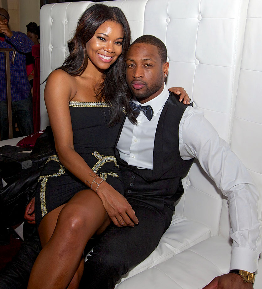 The Miami Heat guard and the actress began dating in July 2010. Wade made headlines on November 1, 2013 when he gave Union a ring. At the time, it wasn't an engagement ring, but her own championship ring. On December 21, 2013, it was the real thing, as both Union and Wade announced their engagement on their respective Twitter and Instagram feeds. Regarding the wedding planning, Gabrielle referred to her then-fiance as ''Groomzilla'' in May 2014, and the two tied the knot on August 30, 2014.