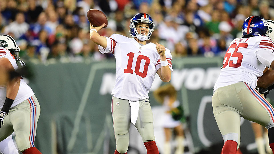 Eli Manning is coming off a disastrous preseason for the Giants and could disappoint betters who are too optimistic about his potential.