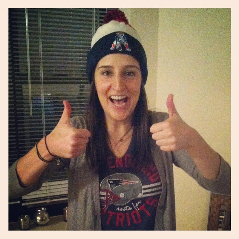 @SInow #myNFLFanStyle   Cheering the Pats SB Win. I was the only Pats fan at the party & YES I WORE MY HAT INDOORS!