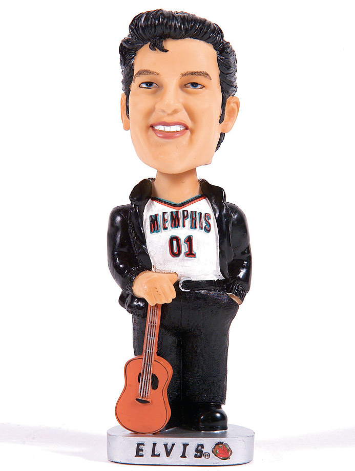 The Memphis Grizzlies had an Elvis Presley bobblehead giveaway before a game in 2002.