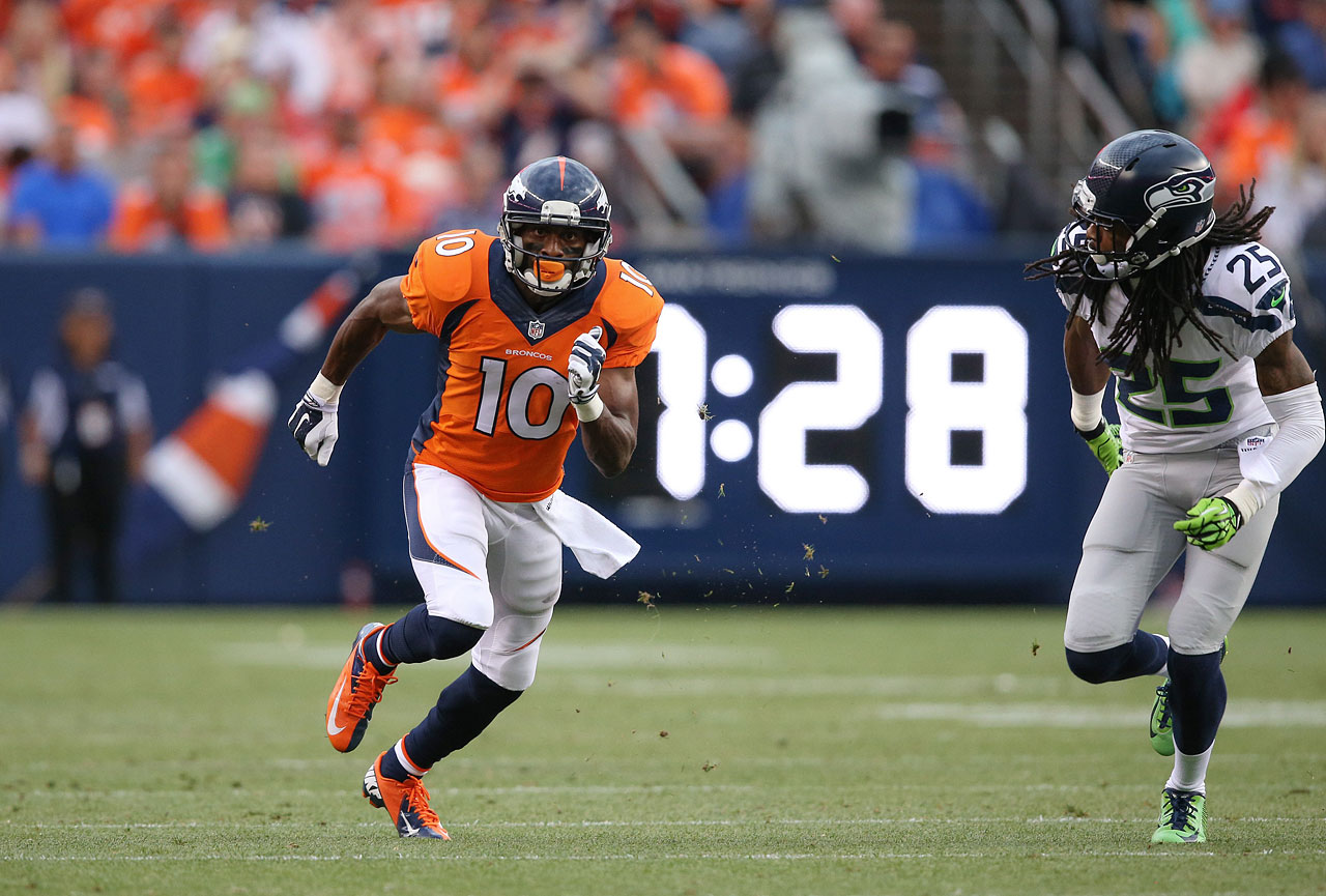 Peyton Manning has a new toy and that's great news for fantasy owners. Sanders has the skillset to make a significant impact as the Broncos' third receiver.