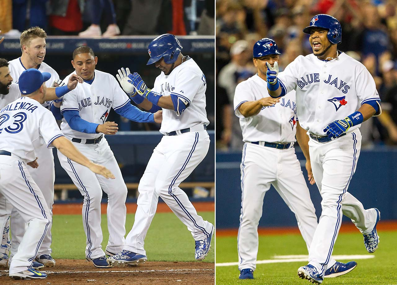 Edwin Encarnacion's two-run walk-off home run in the ninth inning on June 9 gave the Toronto Blue Jays a 4-3 victory over the Miami Marlins.