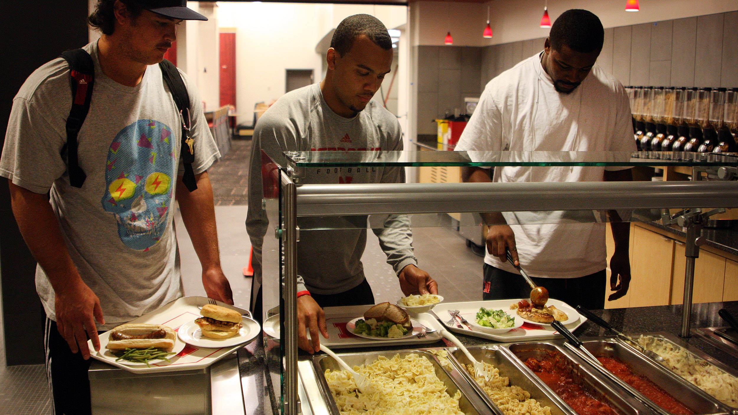Hungry Huskers Nebraska Tries Eating Its Way To The Top SIcom - Lewis training table