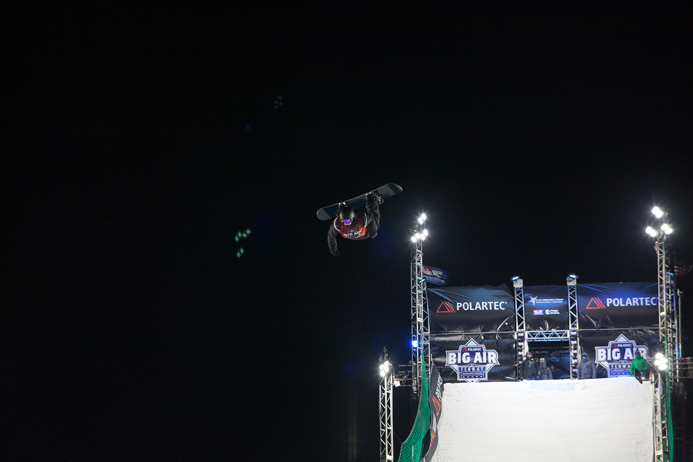Max Parrot flies over Fenway Park during his third run and the final run of the night.