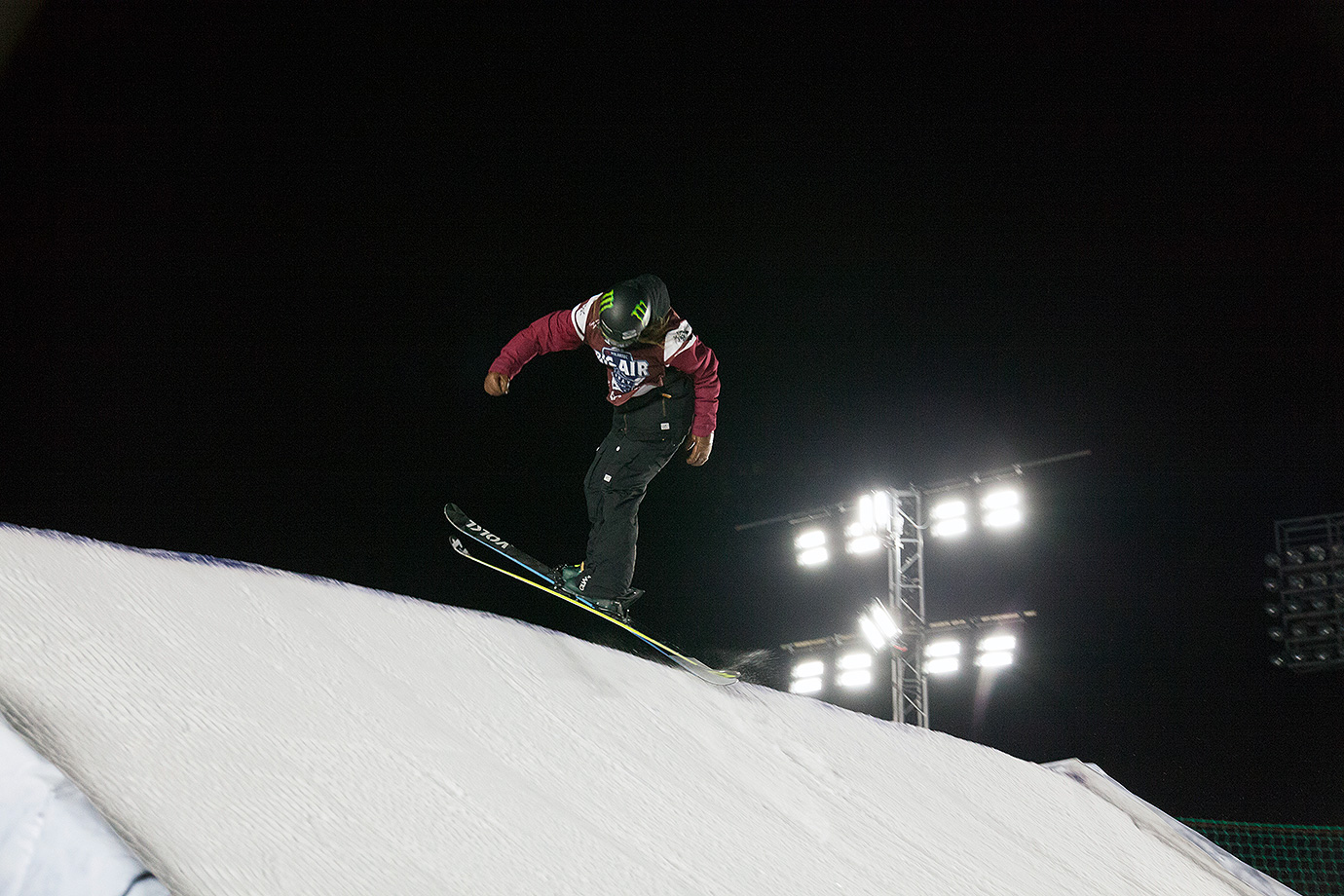 Women's third-place winner Emma Dahlstrom takes off from the Big Air ramp during the ski final.