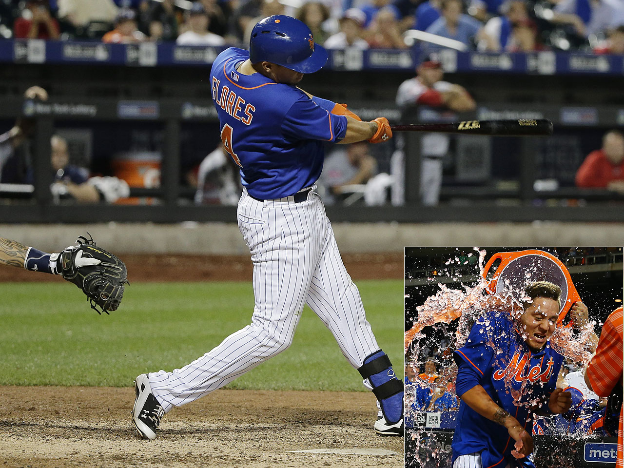 A few days after sobbing while positioned in the field and thinking he had been traded from the Mets, Wilber Flores belted a solo homer in the 12th inning to give New York a 2-1 win over the Washington Nationals on July 31.