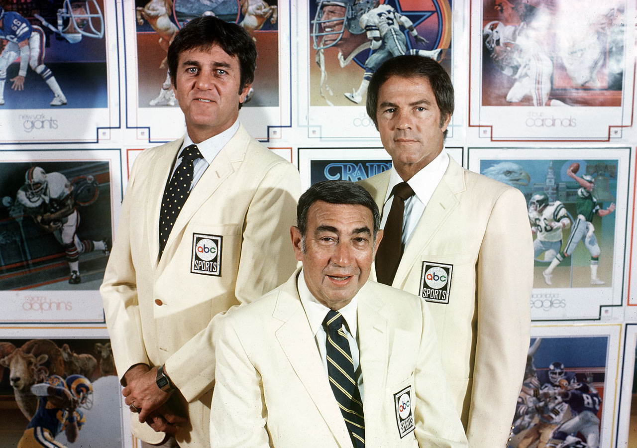 Don Meredith, Howard Cosell and Frank Gifford in 1980.