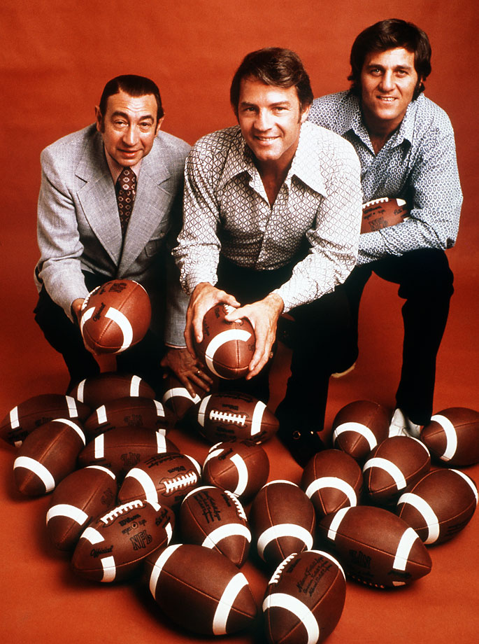 Howard Cosell, Frank Gifford and Don Meredith in 1971.