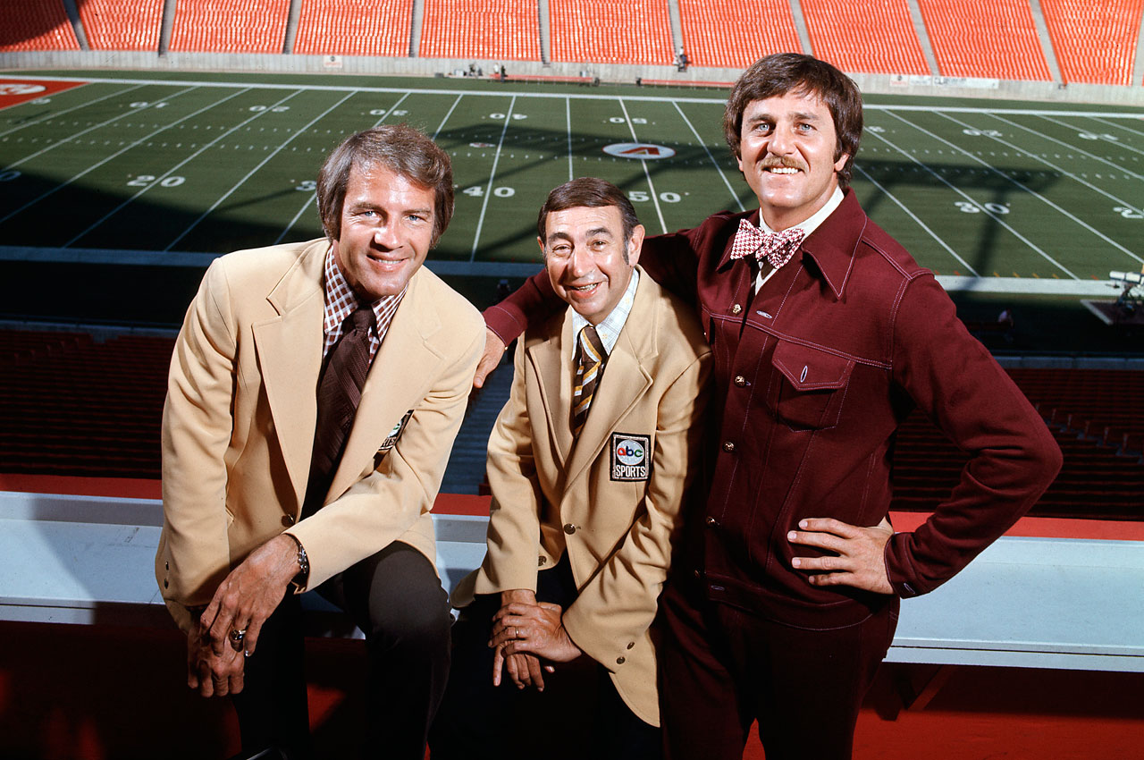 Frank Gifford, Howard Cosell and Don Meredith in 1971.