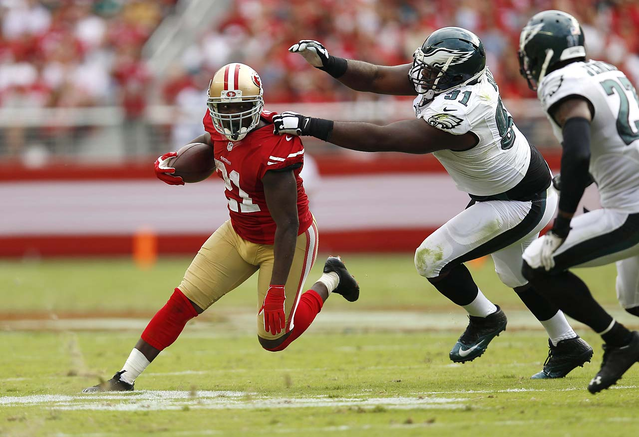 A week after expressing his disappointment with how he was used in a 49ers' loss, Frank Gore had 24 carries for 119 yards and scored on a 55-yard catch-and-run.