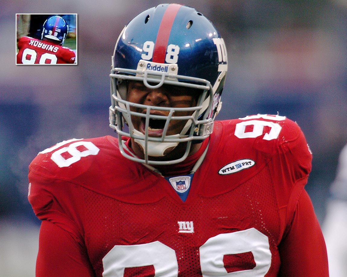 "Somebody decided the Toys ""Я"" Us spelling for Giants defensive tackle Fred Robbins was a better way to go in a home game against the Cowboys on Dec. 4, 2005."