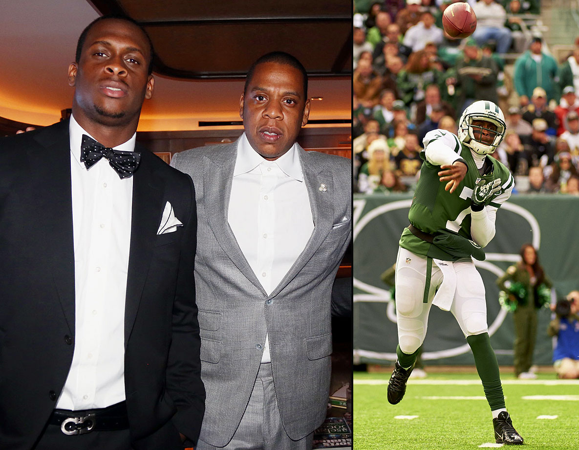 "Roc Nation scooped up Jets quarterback Geno Smith before the former West Virginia college star had even played a single down in the NFL. Smith signed with Roc Nation in May 2013, a move that generated controversy because Jay-Z was not officially credentialed as an agent. On his track ""La Familia"" from his recent record ""Magna Carta Holy Grail,"" Jay-Z poked fun at the situation: ""NFL investigations / Oh, don't make me laugh."""