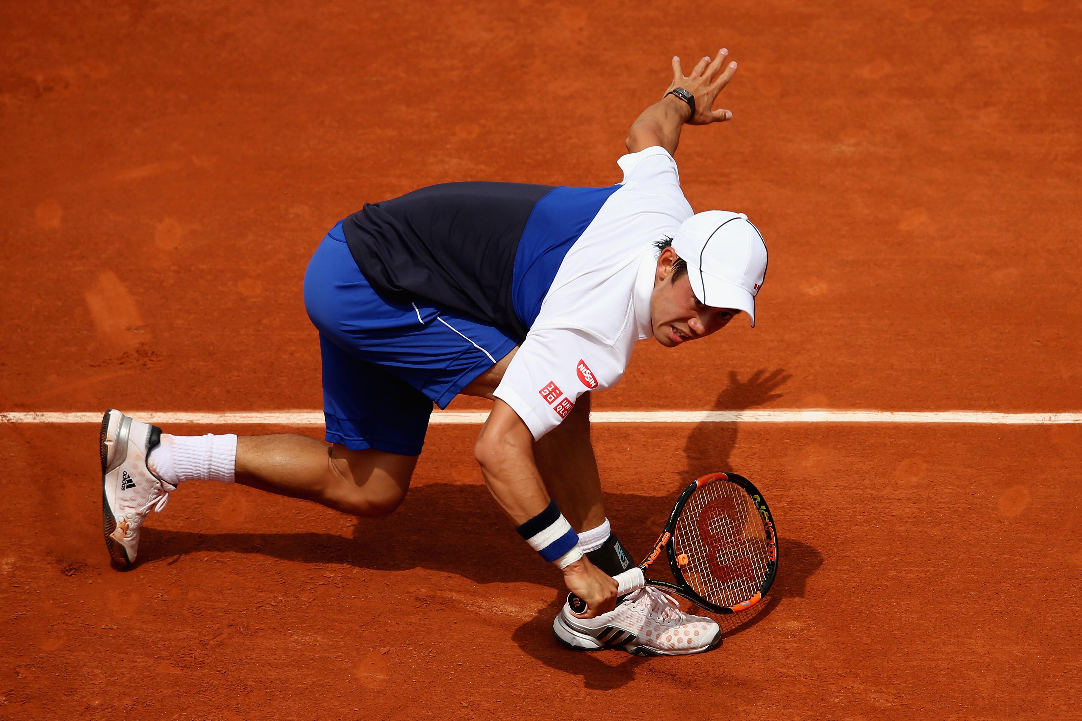 No. 5 seed Kei Nishikori topped French wildcard Paul Henri Matheiu 6–3, 7–5, 6–1.