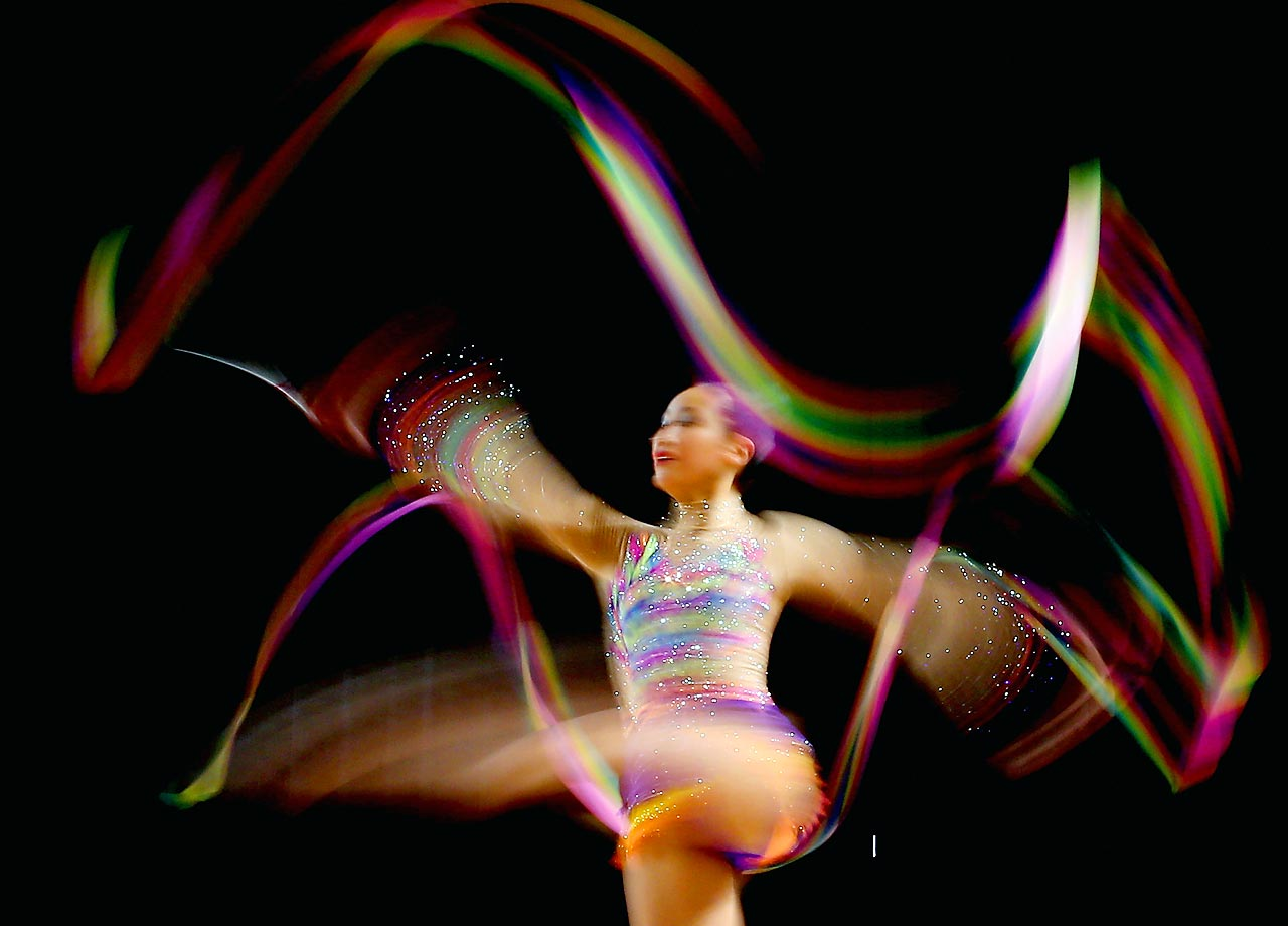 Emma Chan competes in the Australian Gymnastic Championships Rhythmic Final.