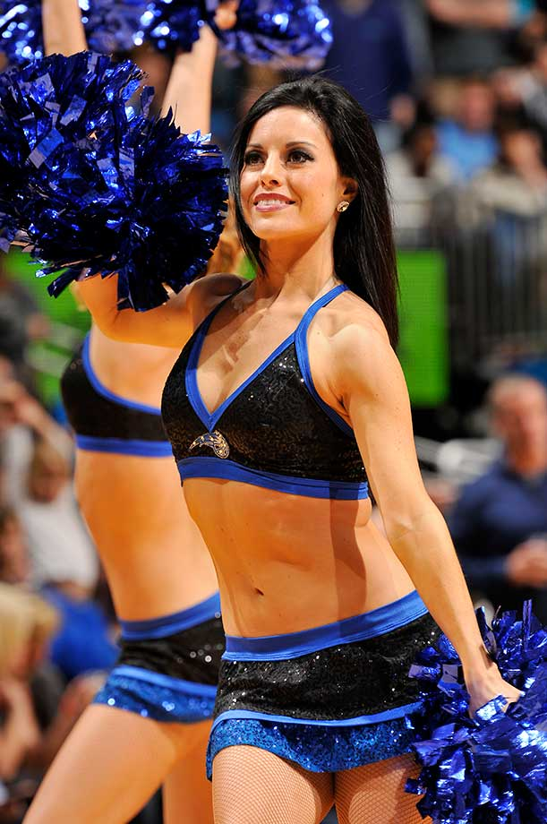 Dancers perform during the game between the Golden State Warriors and Orlando Magic.