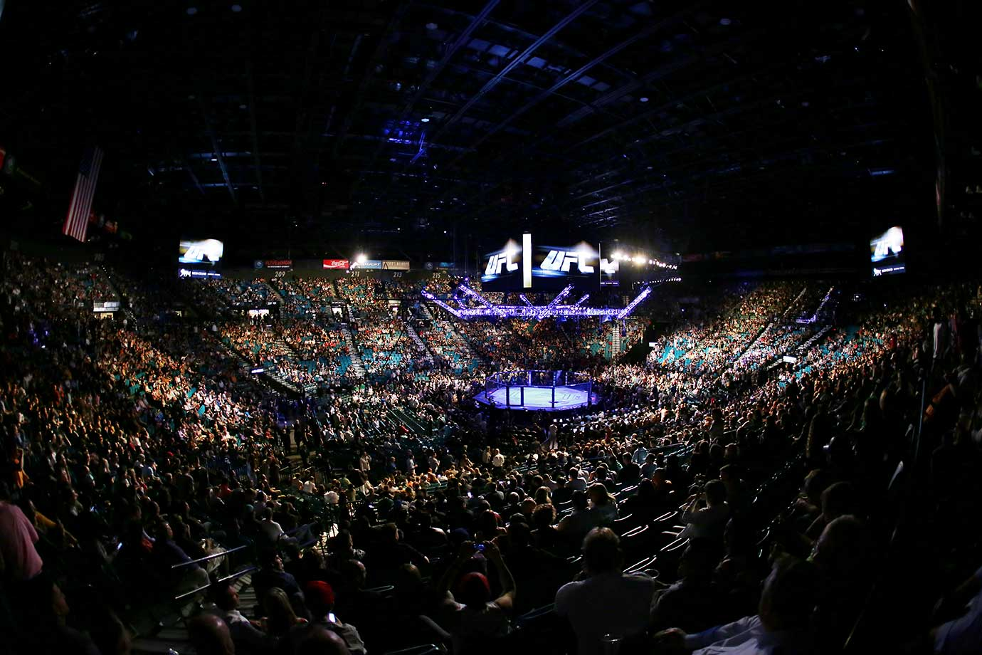 General view of MGM Grand Garden Arena during UFC 196.