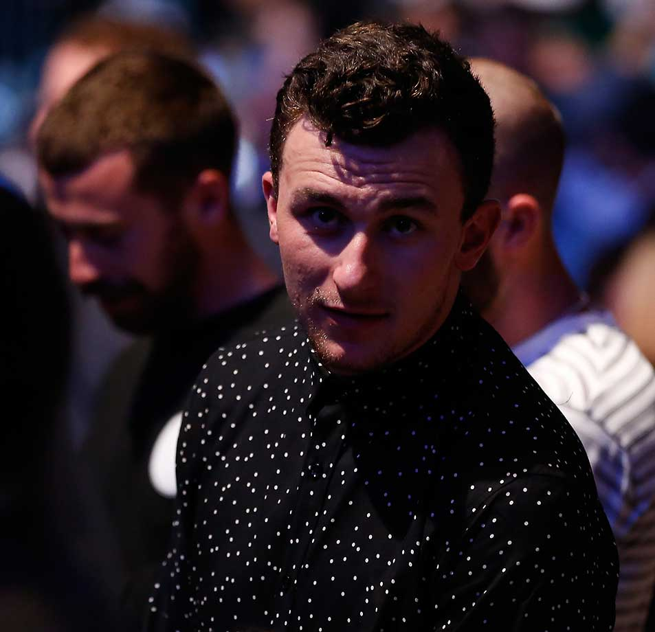 NFL player Johnny Manziel in attendance at UFC 196.