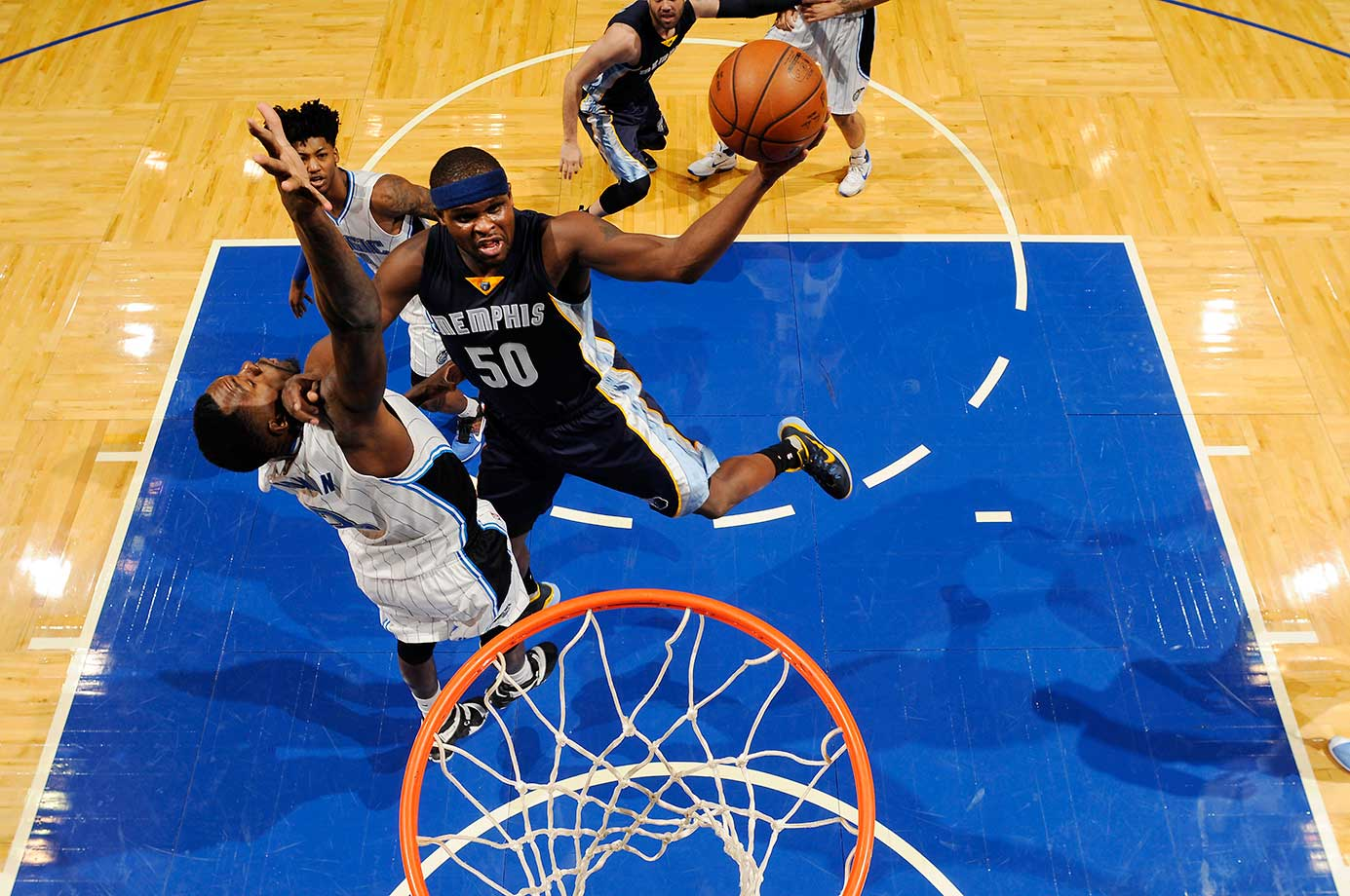 Zach Randolph of Memphis shoots the ball against the Orlando Magic.