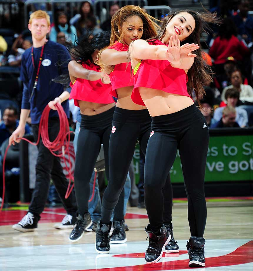 The Atlanta Hawks dance team is seen against the Phoenix Suns.