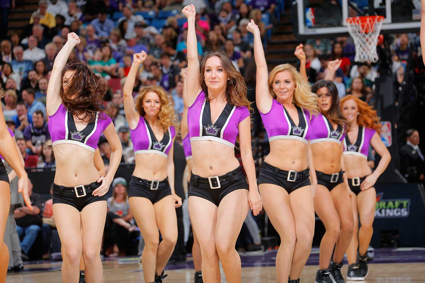 The Sacramento Kings dance team is seen against the Portland Trail Blazers.