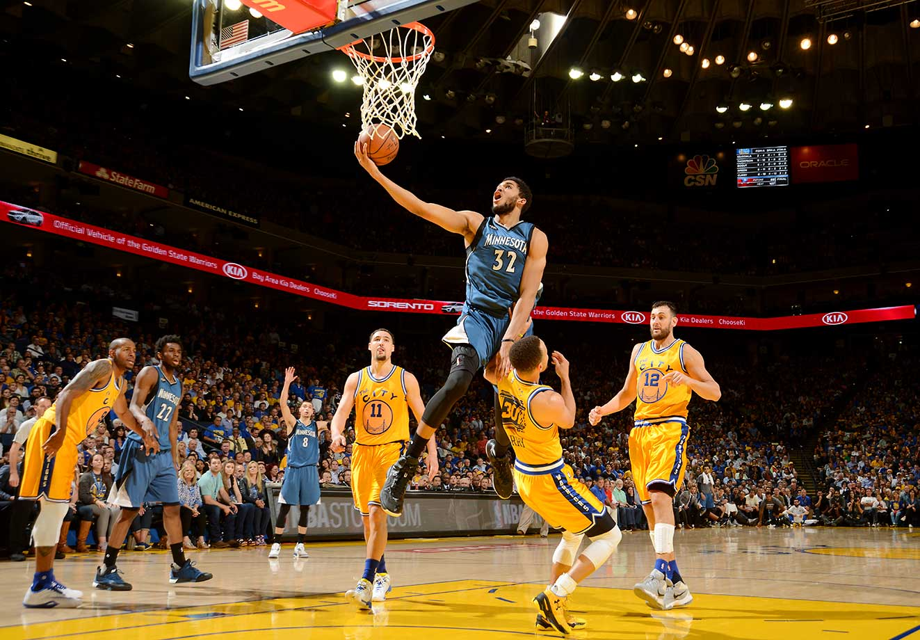 Steph Curry and the Warriors had no luck slowing down Karl-Anthony Towns and Minnesota on Tuesday, losing 124-117 in overtime.