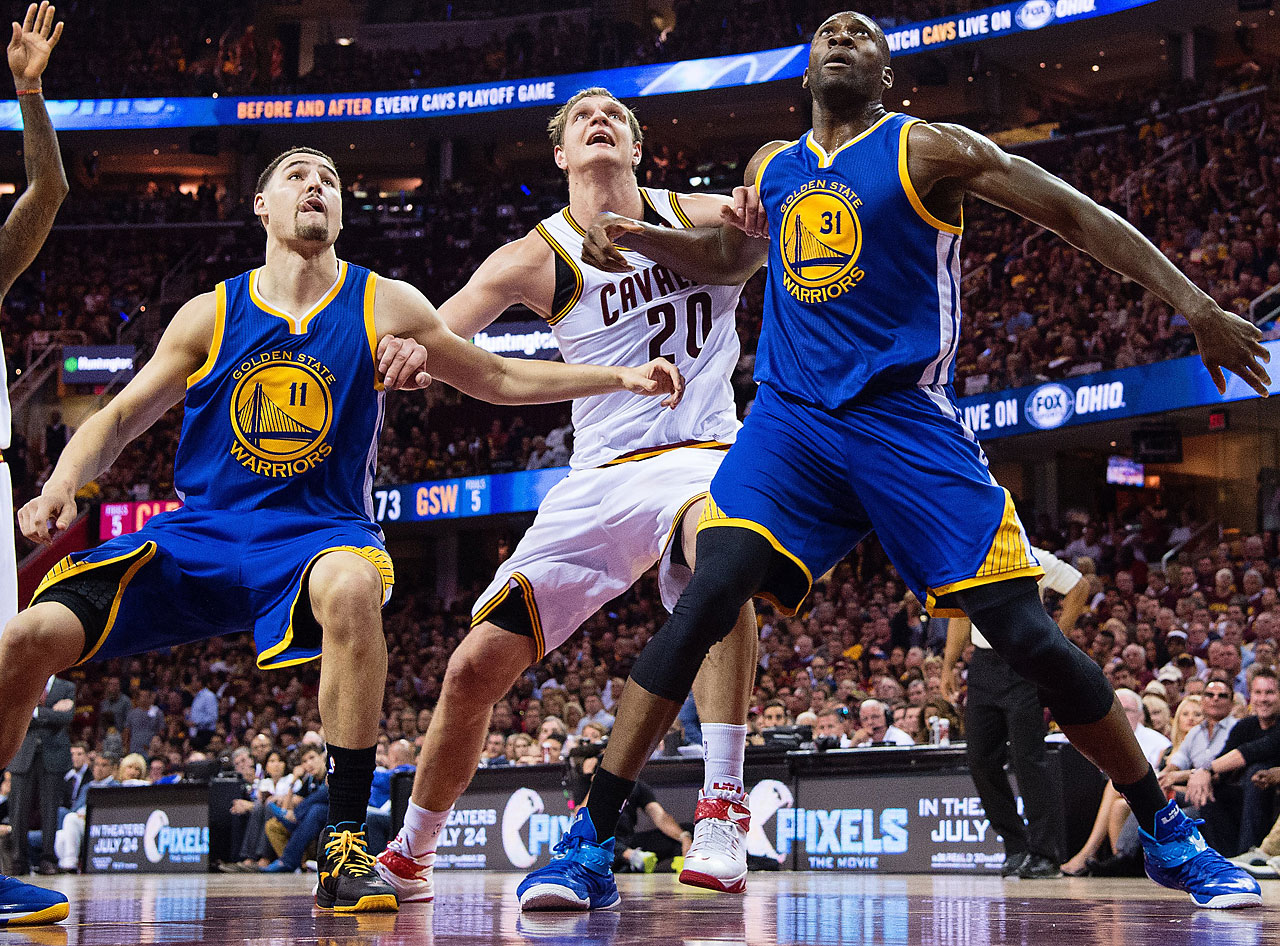 Cleveland outrebounded Golden State 56-39 in Tuesday's game.