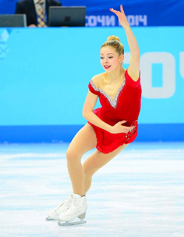 Gracie Gold of the United States competes in the Team Ladies Free Skating.
