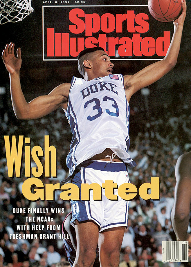 During his four years at Duke, Hill played in three NCAA championship games, winning twice. Hill became the first player in ACC history to record more than 1,900 points, 700 rebounds, 400 assists, 200 steals and 100 blocked shots in a career. The Blue Devils won championships during his freshman and sophomore years, becoming the first program to win consecutive titles since UCLA in 1973, and made it back to the final his senior year but lost to Arkansas. Hill capped off his career in Durham with an ACC Player of the Year selection in 1994. He also threw the most famous pass in NCAA tournament history, the three-quarters-length-of-the-floor bullet to Christian Laettner, whose turnaround jumper sank Kentucky in the epic 1992 East regional final.