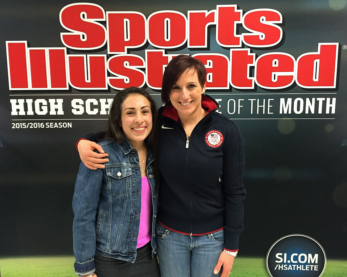 Sophia smiles with Arielle Martin, another Utah-bred woman in the competitive world of BMX racing. Martin is a former World Cup champion and a 2012 Olympic qualifier.