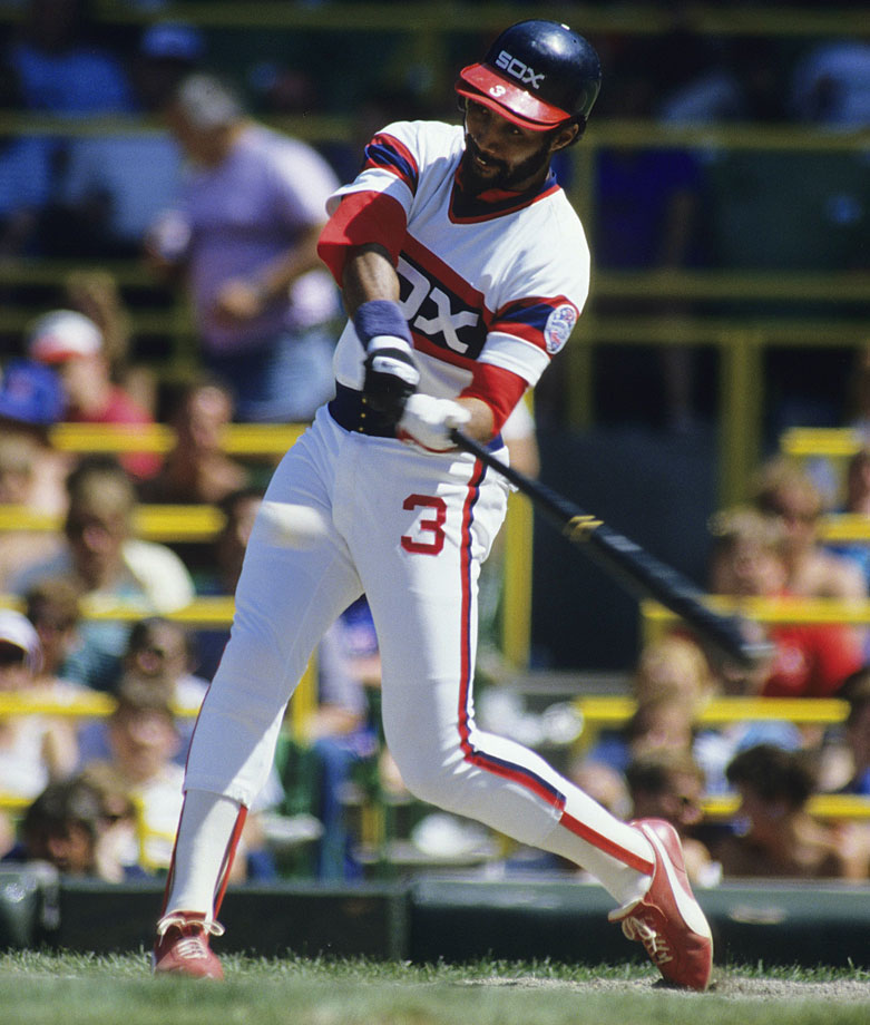 A Maryland native, Baines was drafted out of high school and debuted for the White Sox in 1980, beginning a 22-year career spent mostly with Chicago. In stints for the White Sox, Orioles, Athletics, Rangers and Indians, Baines racked up 2,866 hits and made six All-Star teams.