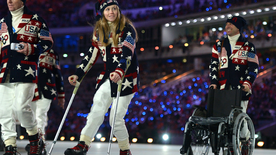 American freestyle skier will no longer compete in the Olympic games after injuring herself during training.