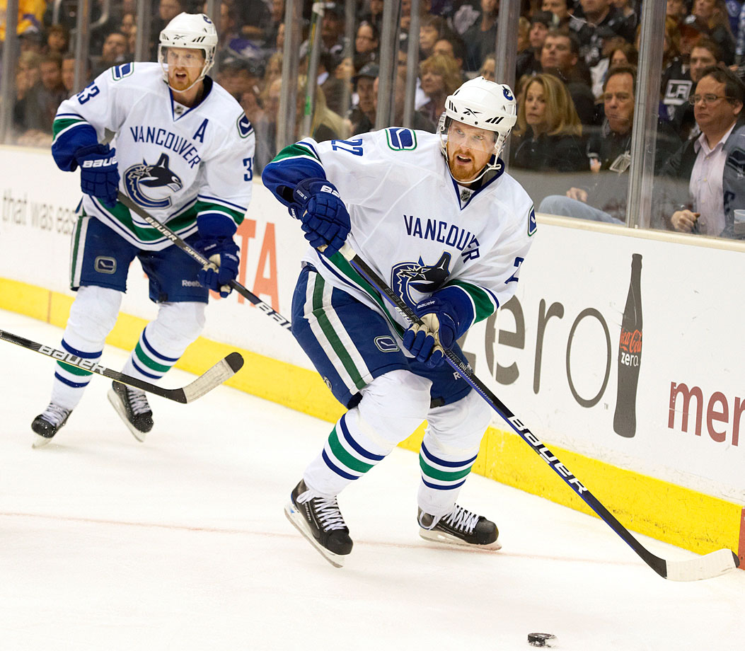 The Swedish twins have been inseparable since the Canucks grabbed them with the second and third picks in the 1999 NHL Draft. As Vancouver's core stars and top liners for 13 seasons, they've each won scoring titles (center Henrik in 2010, when he also won the Hart Trophy; winger Daniel in 2011) and led the Canucks to 10 playoff appearances including the Stanley Cup Final in 2011. They now rank 1-2 respectively on the franchise's all-time points list.