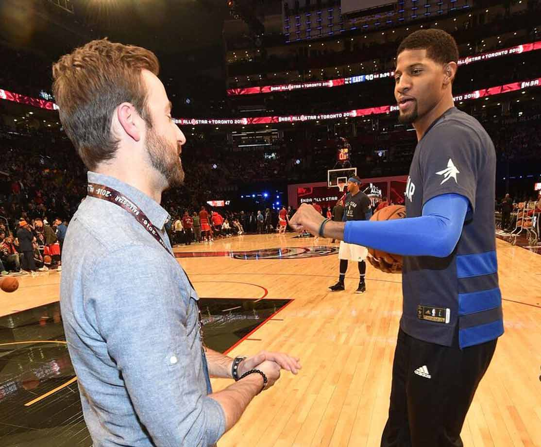 Comparing recovery stories with Paul George of the Pacers. The biggest commonality is how happy we both are to be back! (Note: Hinchcliffe nearly lost his life in a May 2015 crash during practice for the Indy 500. George suffered a compound fracture of his right leg during a Team USA intrasquad game in Aug. 2014 and did not return to action for more than eight months.)