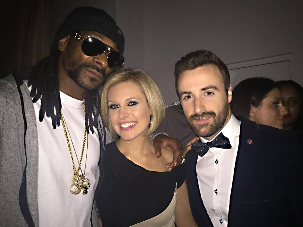 A multi-platinum recording artist (Snoop Dogg), an Olympic gold medalist hockey player (Tessa Bonhomme) and...me. Not contributing any precious metal accomplishments to this group! Need to up my game.