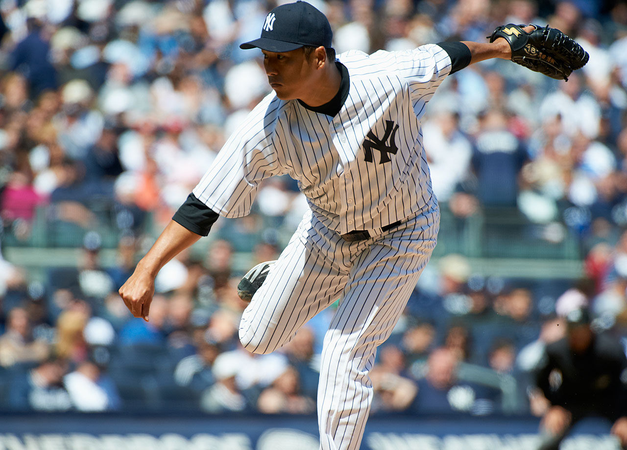 The Dodgers signed the right-handed pitcher as a free agent before the 2008 season, and were rewarded with four solid seasons in which Kuroda made more than 30 starts three times and had a 3.46 ERA.  In his first season with the Yankees in 2012, Kuroda won a career-high 16 games and has been a consistent starter for New York since.