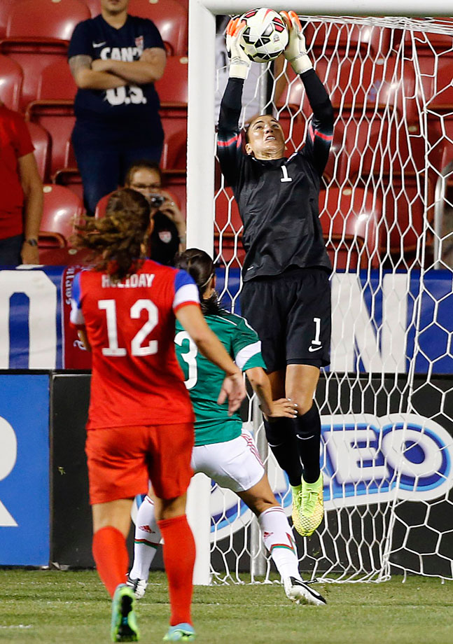 Despite her recent legal troubles and the attention that has come with it — she's currently awaiting trial for domestic violence — Solo continues to play well for her country. She set the U.S. record for career shutouts with her 72nd in a friendly against Mexico in September.