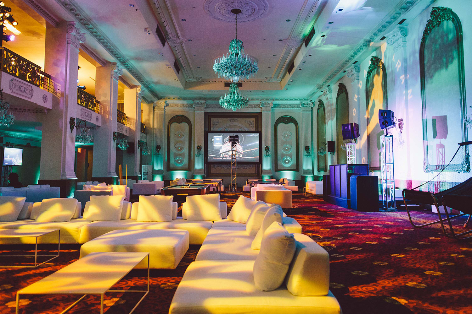 At the Wyndham New Yorker hotel in Midtown, a block away from Madison Square Garden, the players settled into their digs, equipped with everything the players needed for the week—and plenty they didn't. The players lounge was decked out with white couches, a massive TV screen for NBA 2K15 battles, pop-a-shot, a pool table and ping pong.
