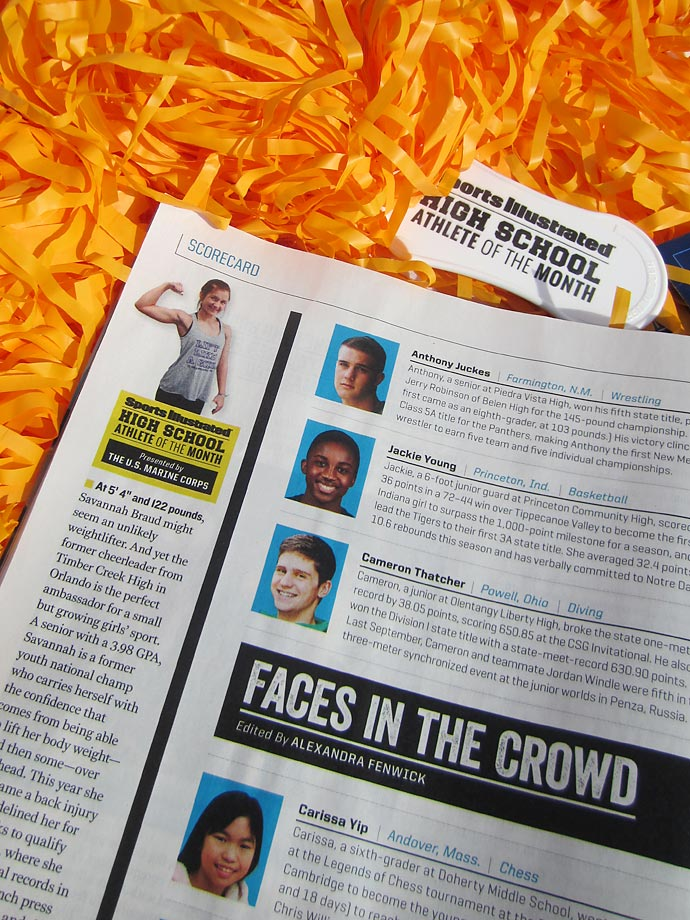 Savannah Braud was featured in the March 16 issue of Sports Illustrated.