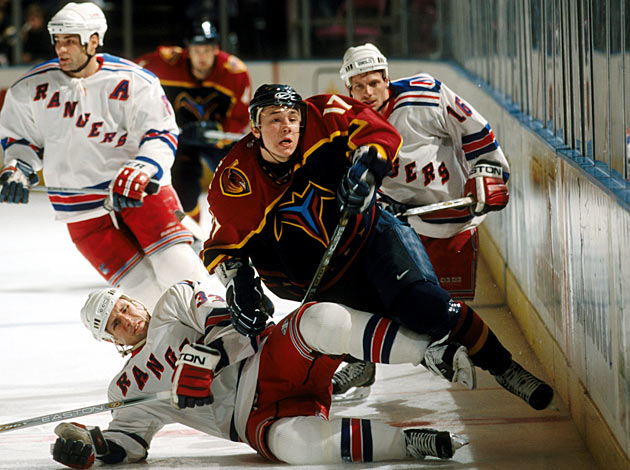 Ilya Kovalchuk with the Thrashers in Nov. 2001.