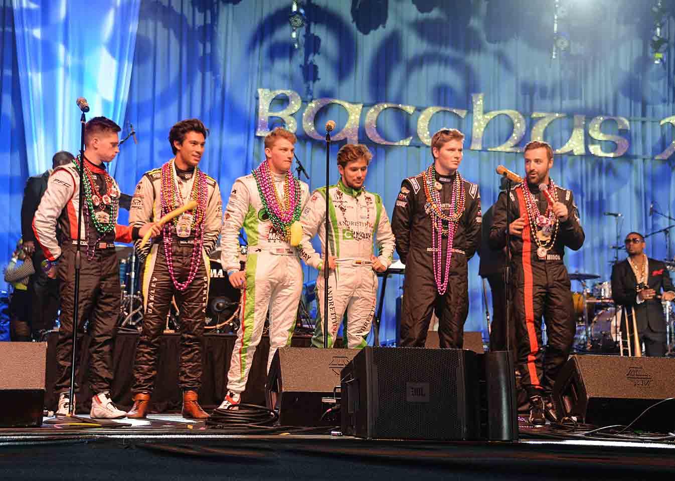 Party boys Aaron Telitz, Neil Alberico, Sage Karam, Carlos Munoz, Josef Newgarden and James Hinchcliffe.