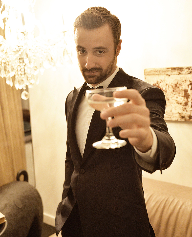 "The IndyCar star channels his ""inner-Gatsby"" as he prepares to party."