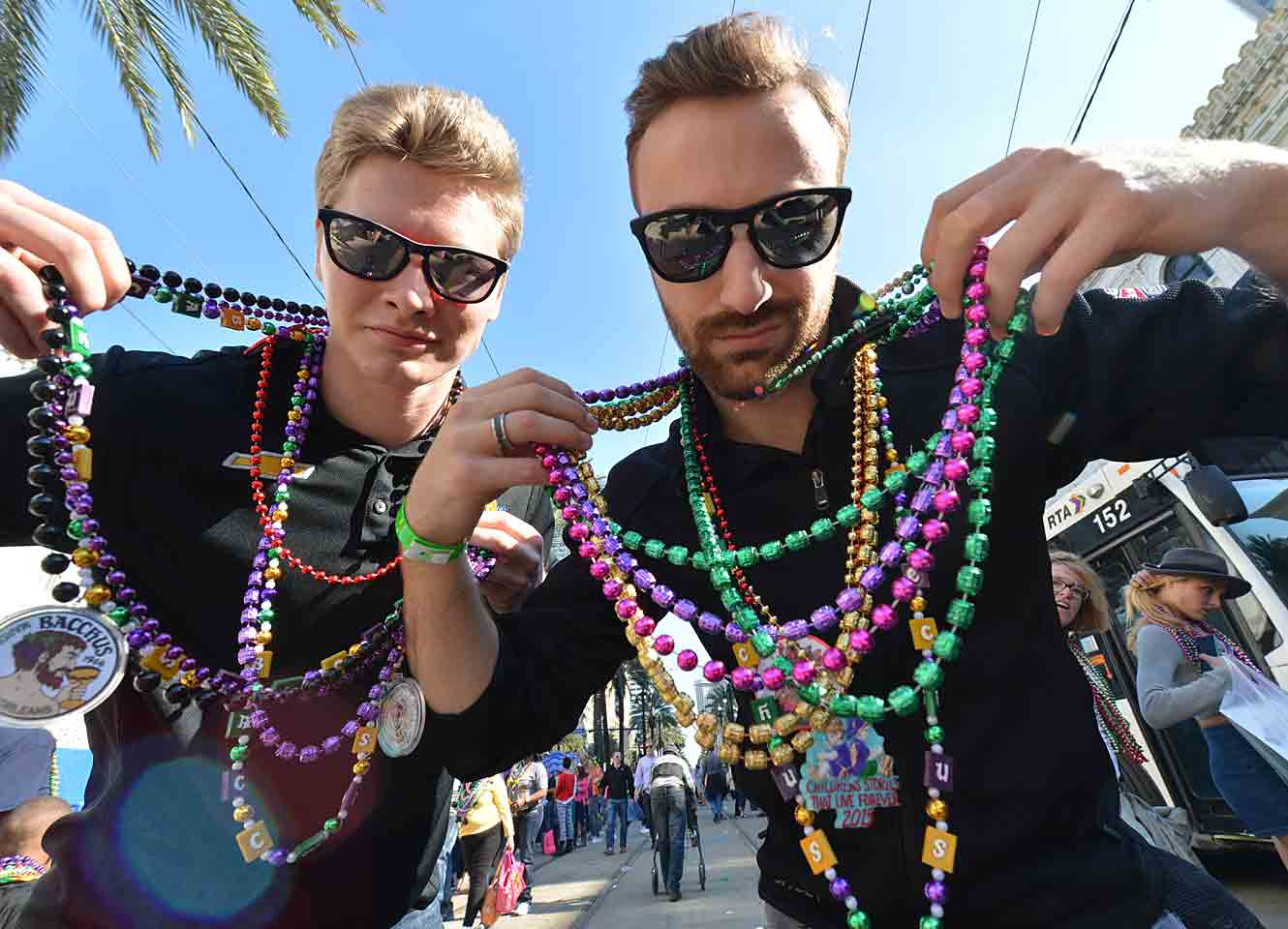 """""""Me and my boy Josef trying to blend in with the locals in the French quarter,"""" Hinchcliffe wrote. """"Any resemblance to Beastie Boys is a complete coincidence."""""""