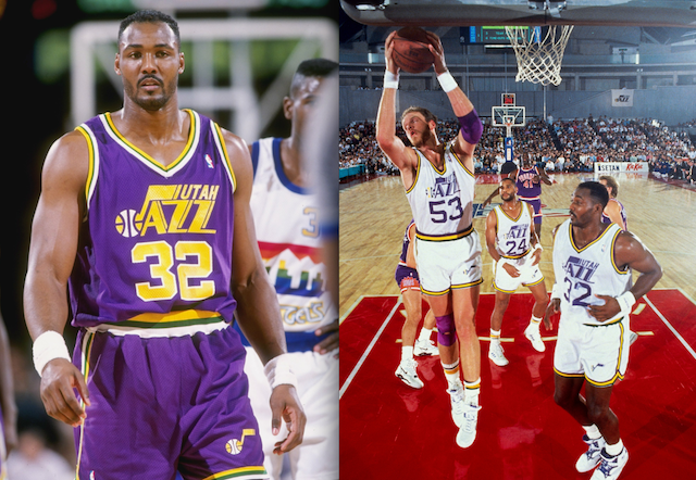 ac811b7f19a The Jazz have toyed around with their uniforms a lot since leaving these  behind in the mid-90s